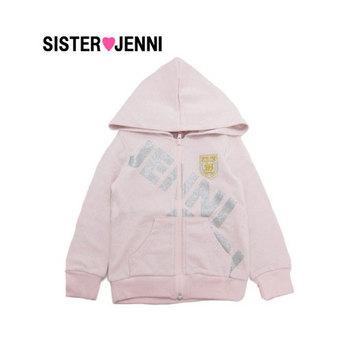 【50%OFFセール】JENNI ジェニィラメロゴ裏毛ジップアップパーカー・ピンク